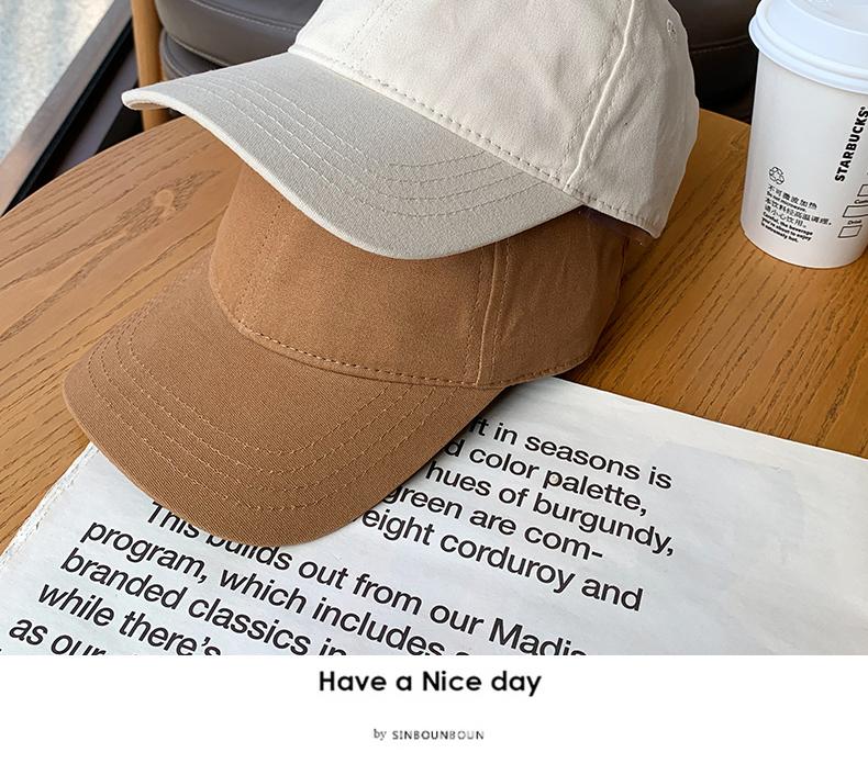 小头围软顶棒球帽女生小号鸭舌帽儿童亲子款四季款纯色百搭帽子潮详细照片