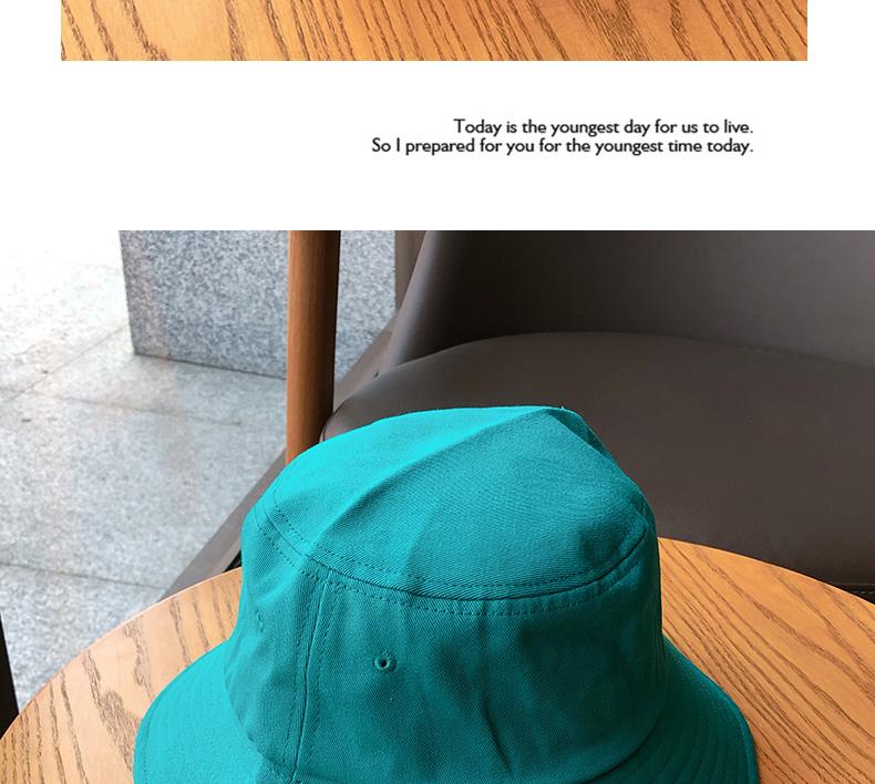 纯色光身男女情侣渔夫帽韩版百搭盆帽春夏天大沿遮阳防晒帽子详细照片