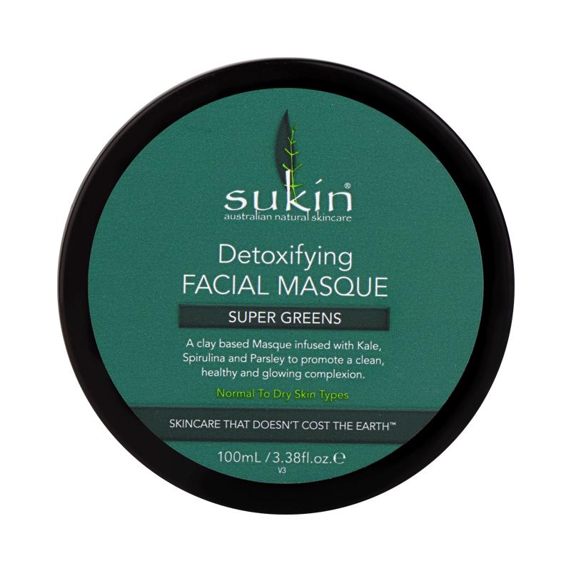 SUKIN舒仟超级绿黏土清洁面膜100ml深层清洁净化提亮 毛孔吸尘器