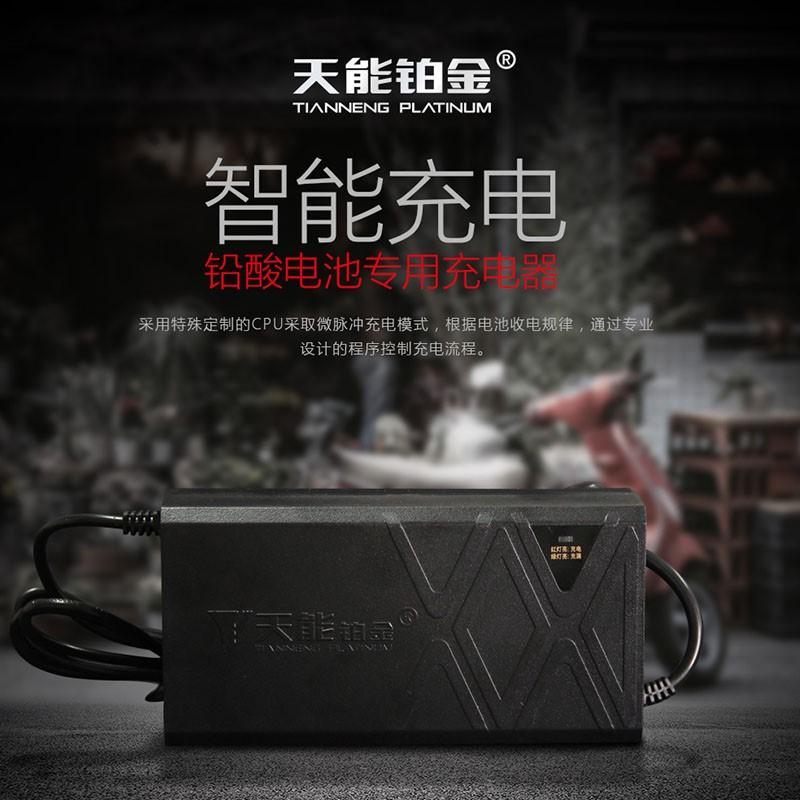 天能电动车踏板车电瓶车蓄电池铅酸电池充电器48v12ah60v72v20ah