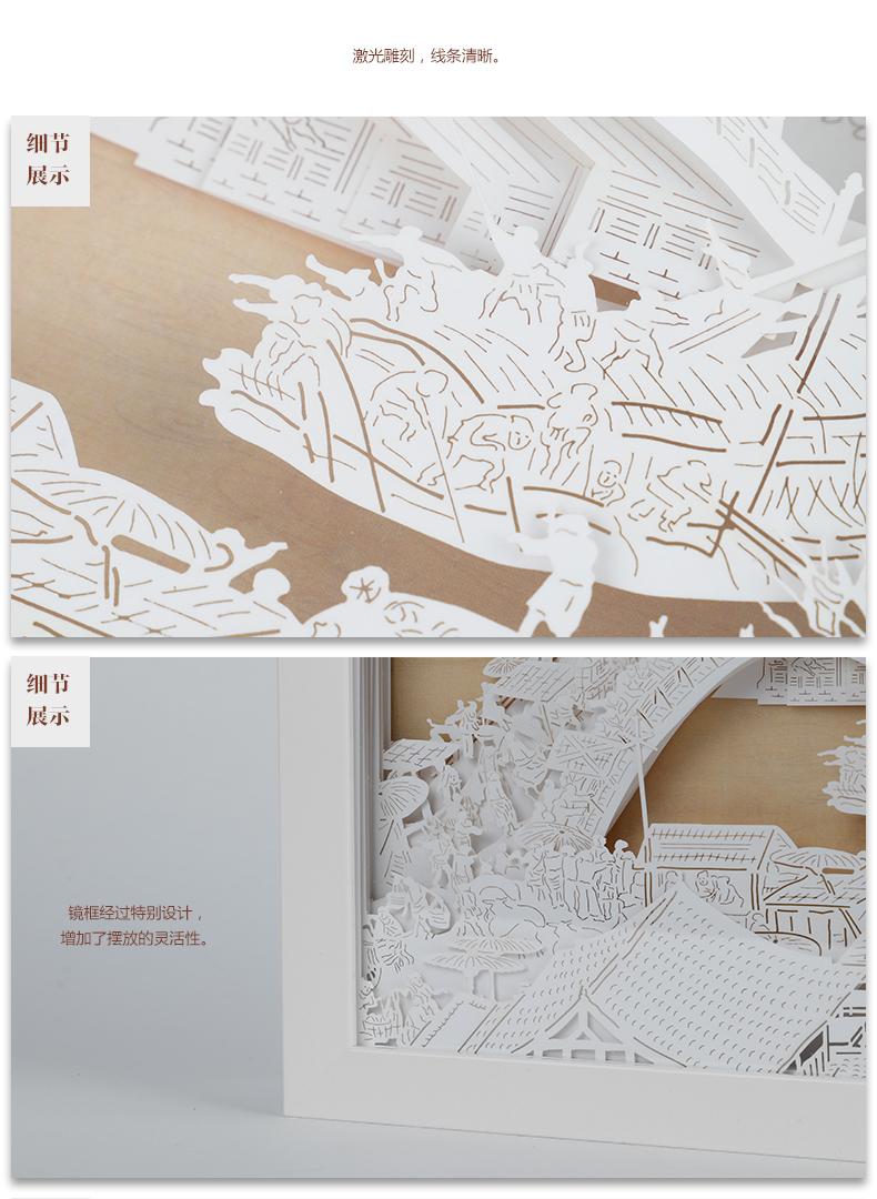 故宫清明上河图纸雕灯