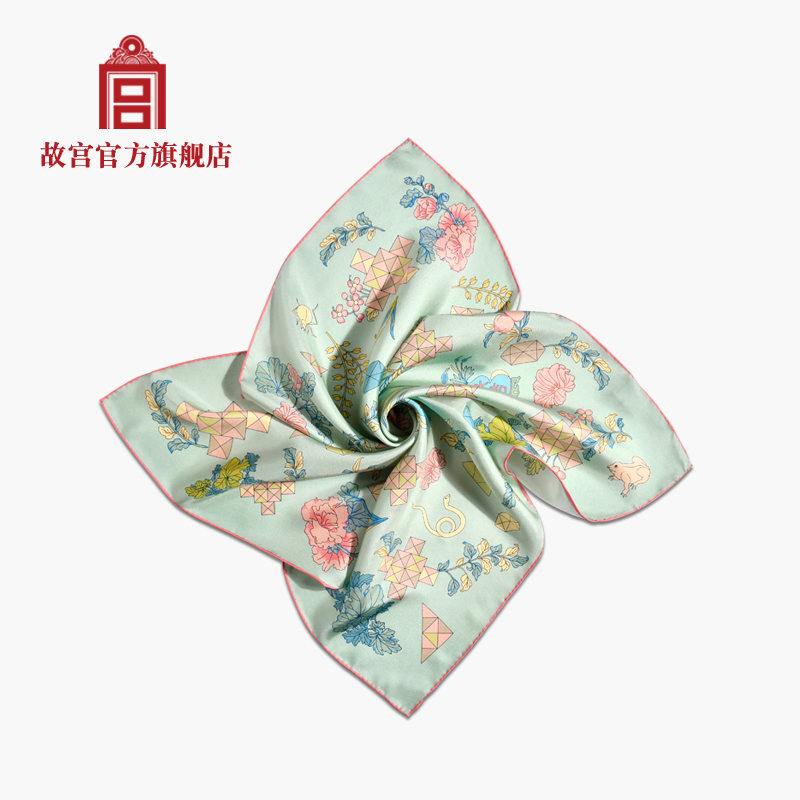 National Palace Museum small square silk scarves creative gift Tanabata Palace Museum official flagship store