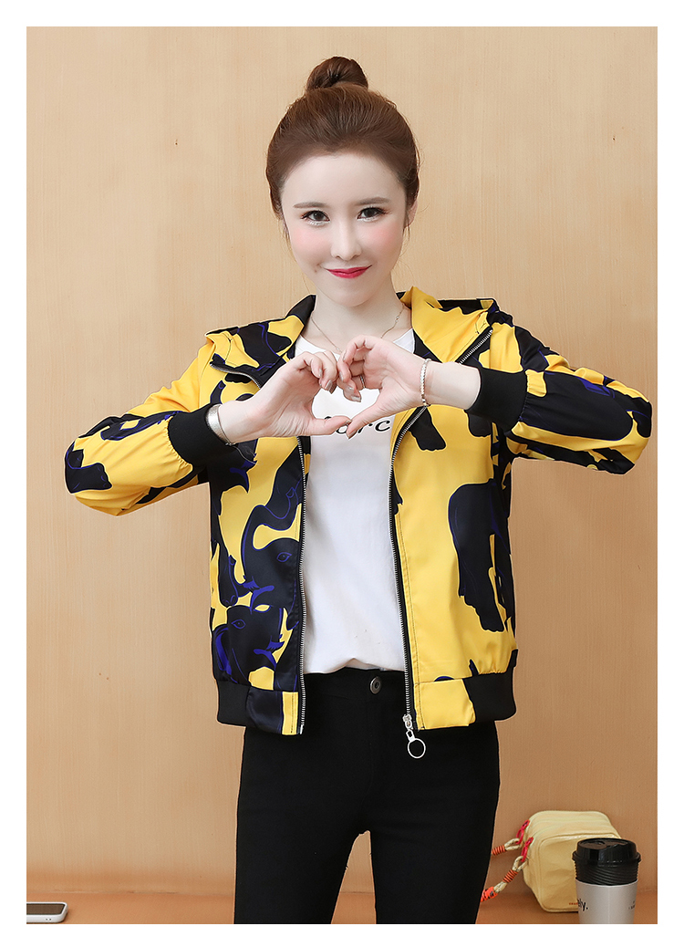 Coat women's ins tide spring and autumn 2020 new foreign women's Korean version of the jacket jacket autumn short coat 58 Online shopping Bangladesh