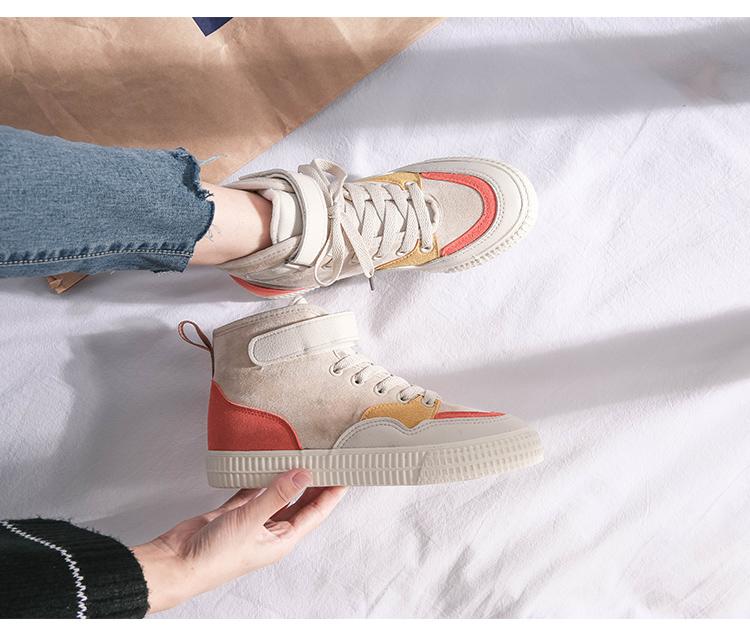 XCZJ 2019 autumn and winter new Martin boots female students Korean version of cotton shoes plus velvet women's shoes boots 32