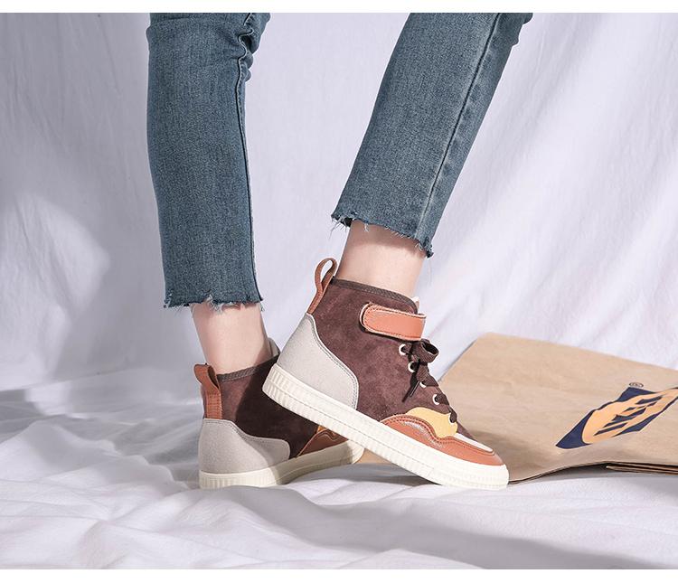 XCZJ 2019 autumn and winter new Martin boots female students Korean version of cotton shoes plus velvet women's shoes boots 26
