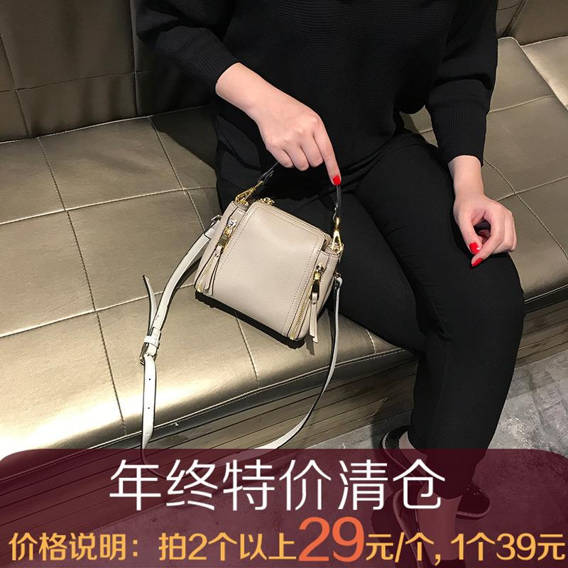 小包包女2018新款简约手提包百搭韩版单肩斜版包 清仓处理特价包
