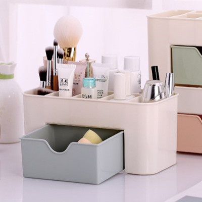 H022 Desktop Cosmetic Storage Box with Small Drawer Multifunctional Plastic Jewelry Box Storage Box Office Desk Storage