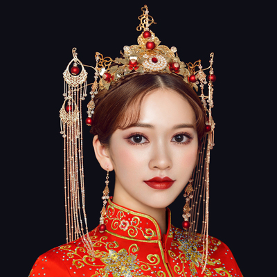 Chinese costume hair accessories clothing hair ornaments antique dragon and Phoenix jacket hair hoop