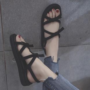 【19年爆款】夏季仙女平底凉鞋