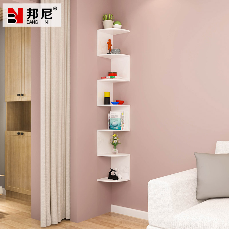 Corner wall shelf wall hanging wall partition triangle corner ...