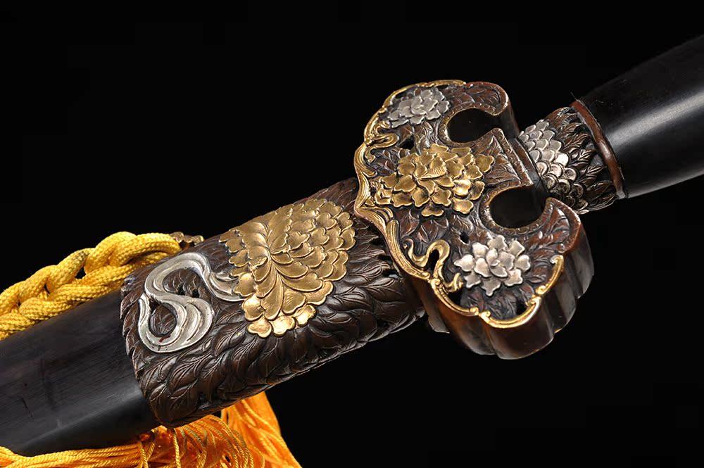 【劍天下】雙色牡丹劍 龍泉沈廣隆劍鋪寶劍 傳統禮品劍收藏劍 未開刃(下標前聯絡客服,因規格不同售價也不同)