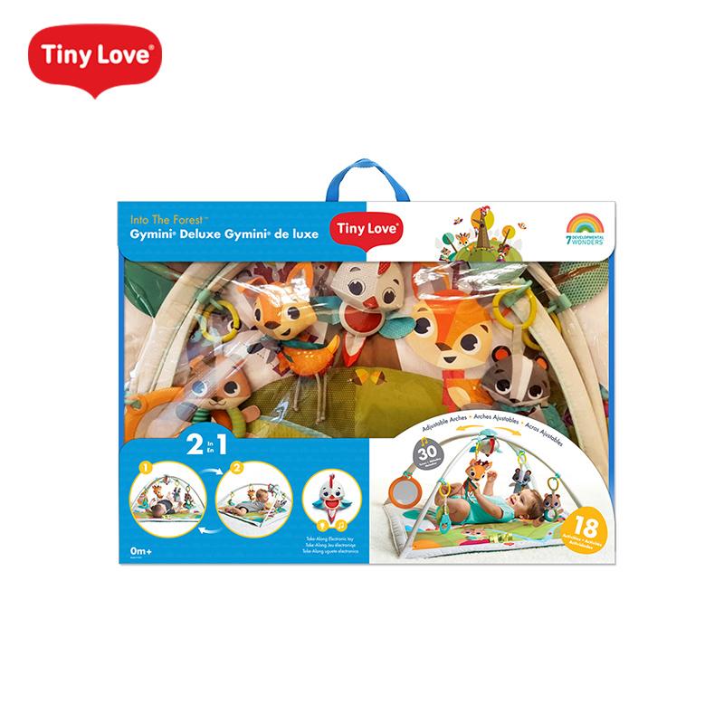 Tinylove婴儿健身架3-12个月宝宝游戏毯垫新生儿音乐玩具哄娃神器