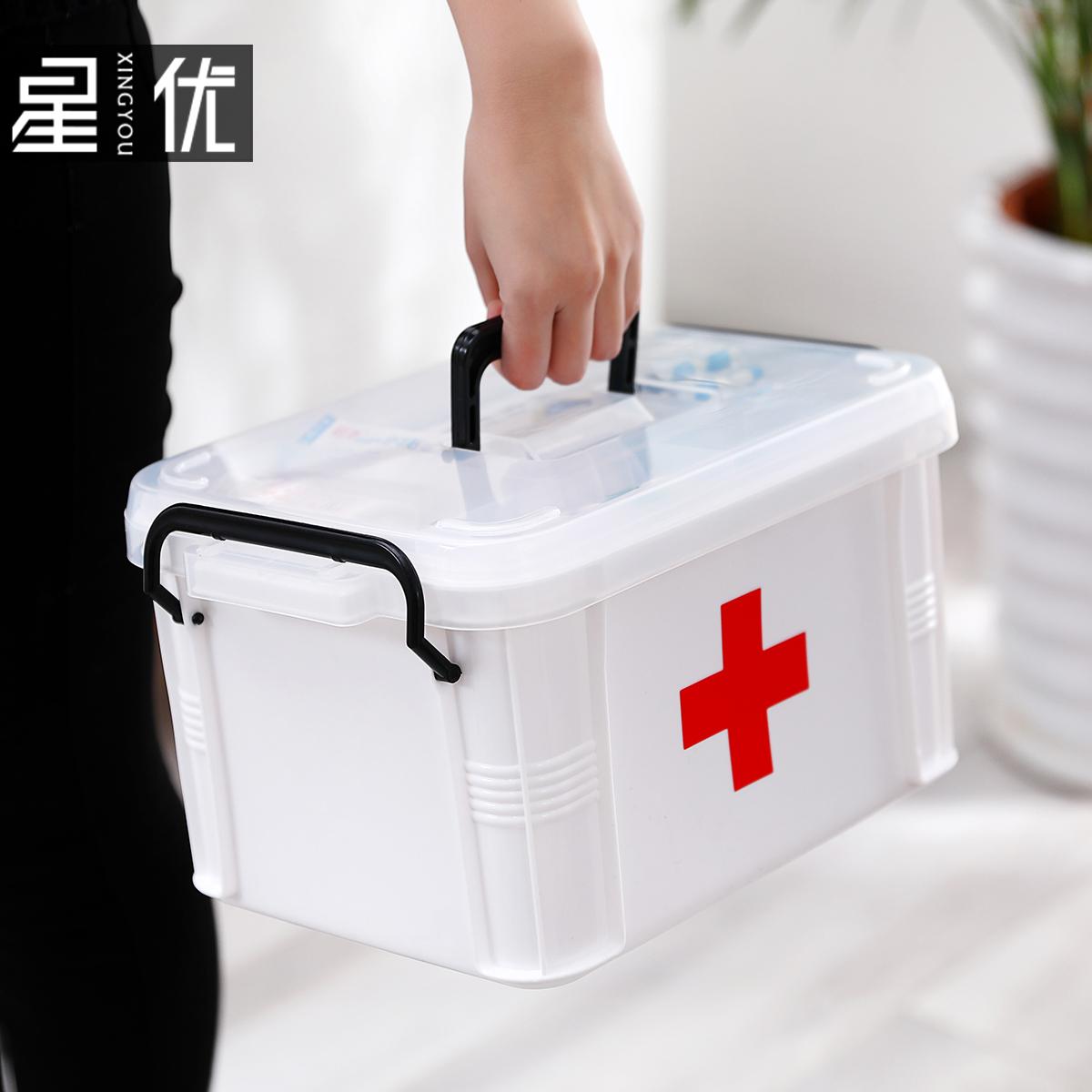 Xl врач аптечка врач лечение семья аптечка многослойный медицинская первая помощь коробка домой медицина вещь ящик доход каролина коробки