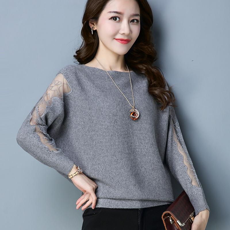 女早秋装时装毛衣衫女2019秋季新款韩版宽松长袖篇幅针织衫蝙蝠衫