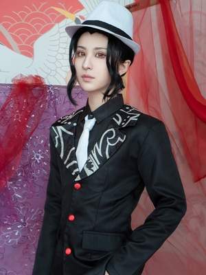 taobao agent Duo Mandu Ghost Slayer Blade cos Ghost Dance Tsuji no misery cos clothing women's clothing men's suit gangster cosplay costume