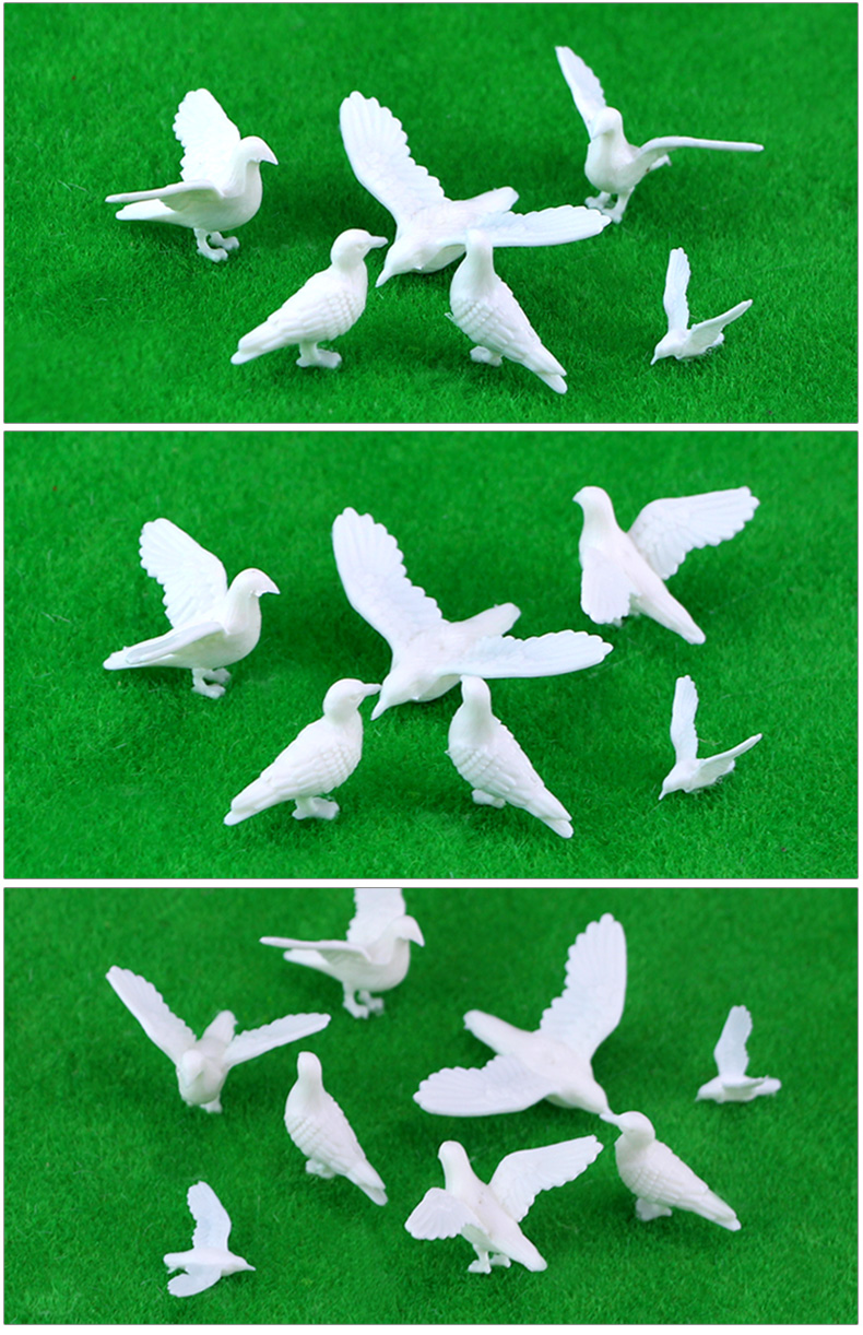 【HH生活館】10件起發模型材料 沙盤模型制作 動物模型 鳥 老鷹 鴿子場景配景配件 部份商品規格不同售價不同
