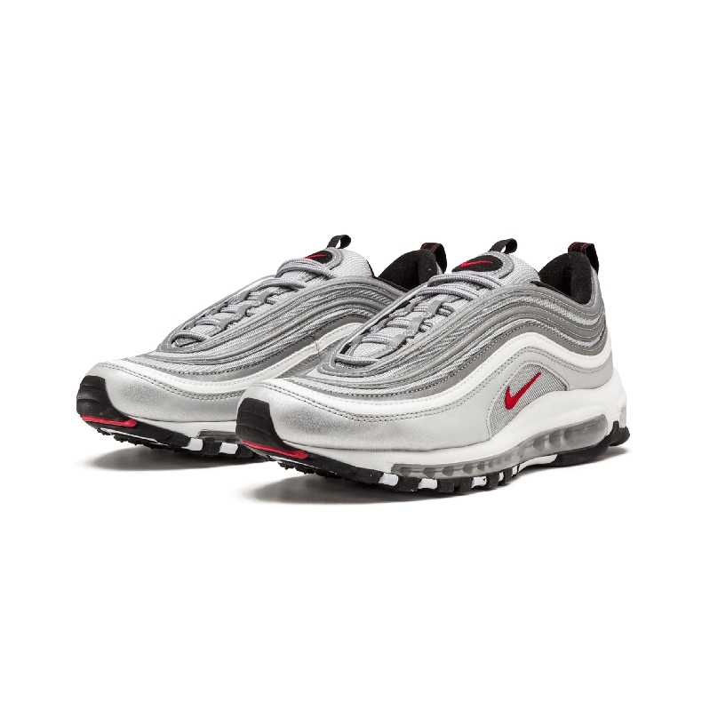 e663178e0d Nike Air Max 97 OG QS 2016 RELEASE silver bullet air cushion running shoes  884421 001