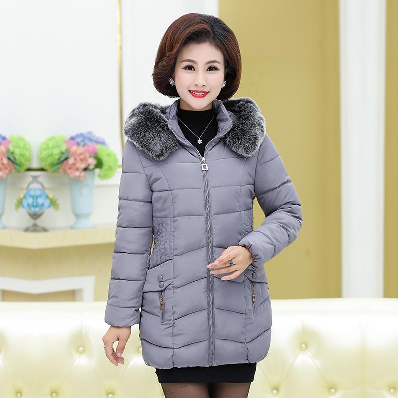 棉衣女冬季新款韩版时尚棉服女式中长款棉袄装外套女装中老年妈妈