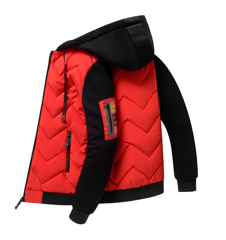2020 new winter down jacket men's hooded thick winter coat men's jacket knitted sleeves down cotton clothing trend men 34 Online shopping Bangladesh