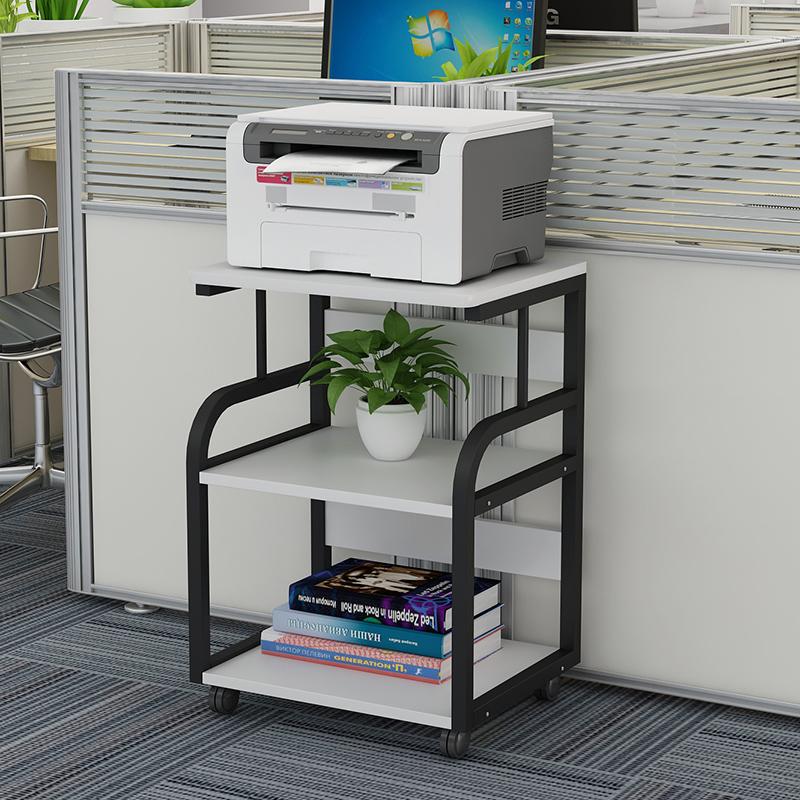 新品印表机架子多层置物架简约现代移动落地办公桌边主机壳收纳层架详细照片
