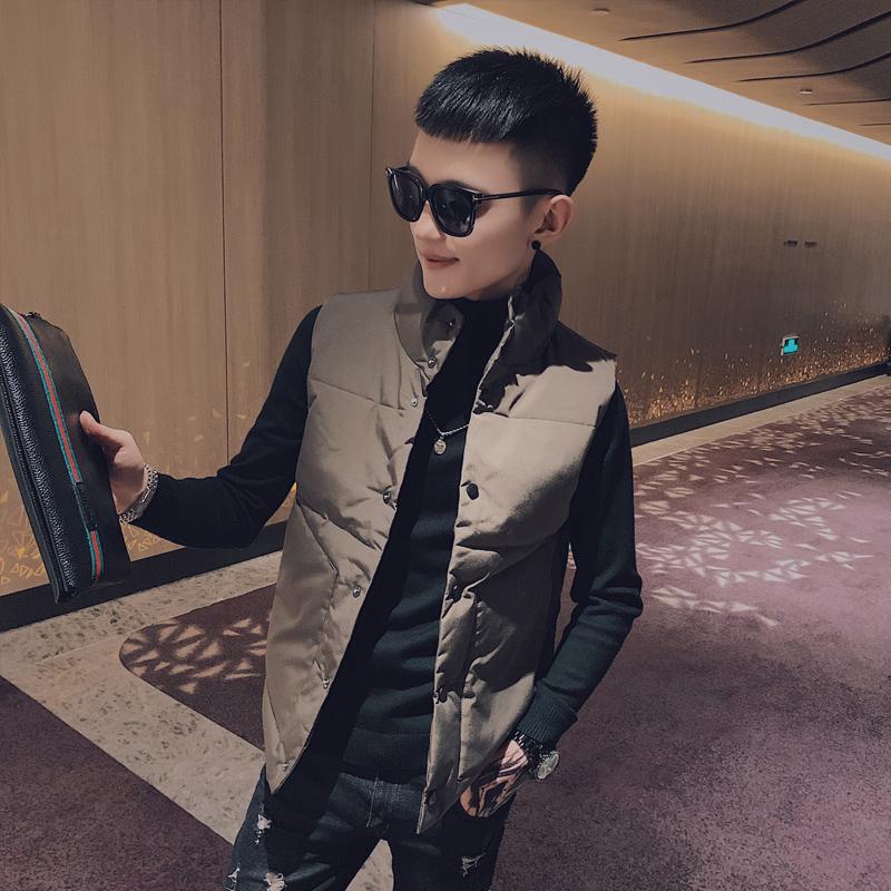 冬季外套棉衣男工社会百搭网红潮牌潮流时尚修身小伙潮马甲装纯色