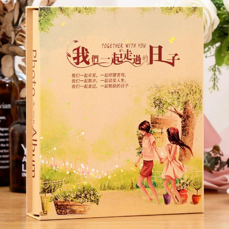 相册插页6寸插页式4D大6寸200张相册本纪念册家庭影集式6寸过塑