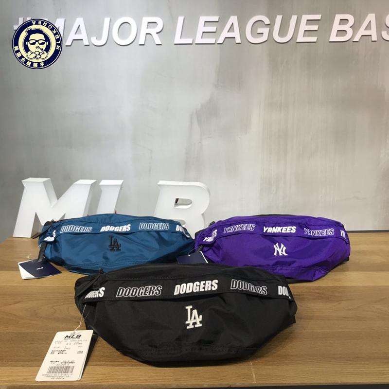 Quầy Hàn Quốc đích thực 2019 mới MLB thắt lưng túi nam và nữ Yankees đội túi ngực ngoài trời giản dị NY túi đeo vai thủy triều - Túi