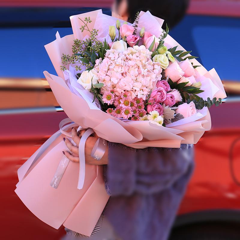 教师节康乃馨百合向日葵韩束鲜花西安同城速递配送表白99朵玫瑰花
