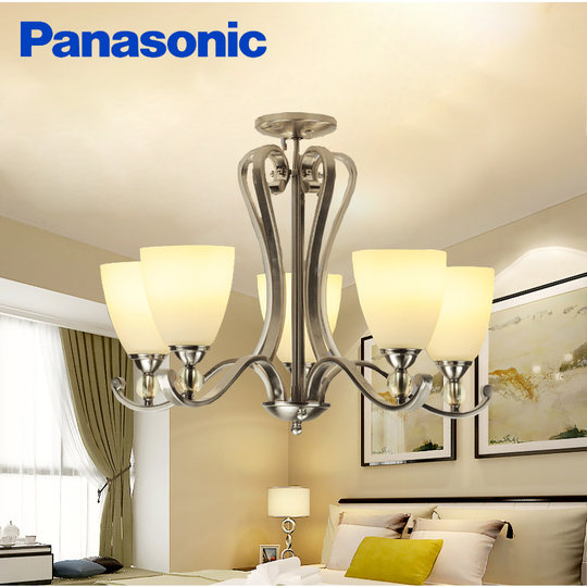 Panasonic American living room lights simple modern branches chandelier personality crystal restaurant bedroom flower light HH-LM8003