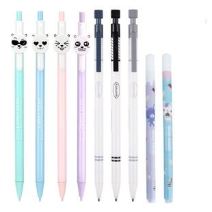 【一支笔5盒替芯】得力自动铅笔替