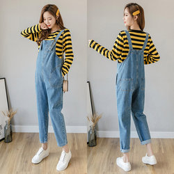 Maternity Fashion Maternity Pants spring and autumn suit autumn outer wear jeans overalls trousers Autumn tide mother