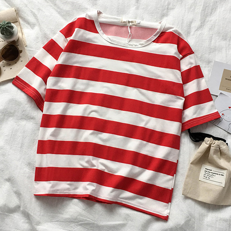 6049 Horizontal Stripes Red 12.9