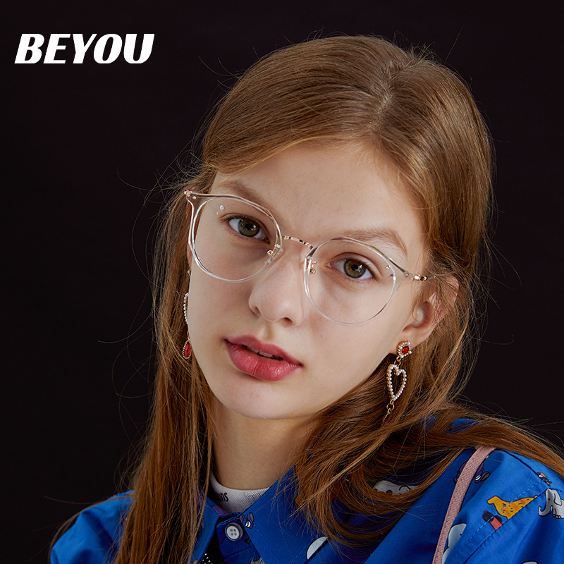 【网红大咖】男女同款显脸小防蓝光近视眼镜
