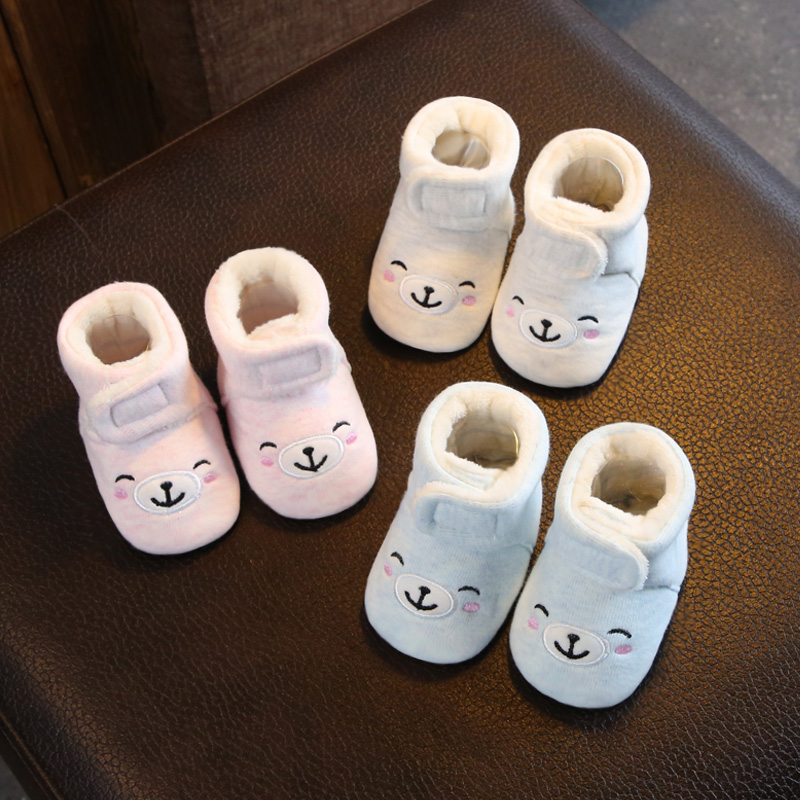 Baby shoes and socks autumn and winter soft bottom men and women baby  toddler cotton shoes 0-1 years old 6-12 months newborn plus velvet 3 ... 544987c23