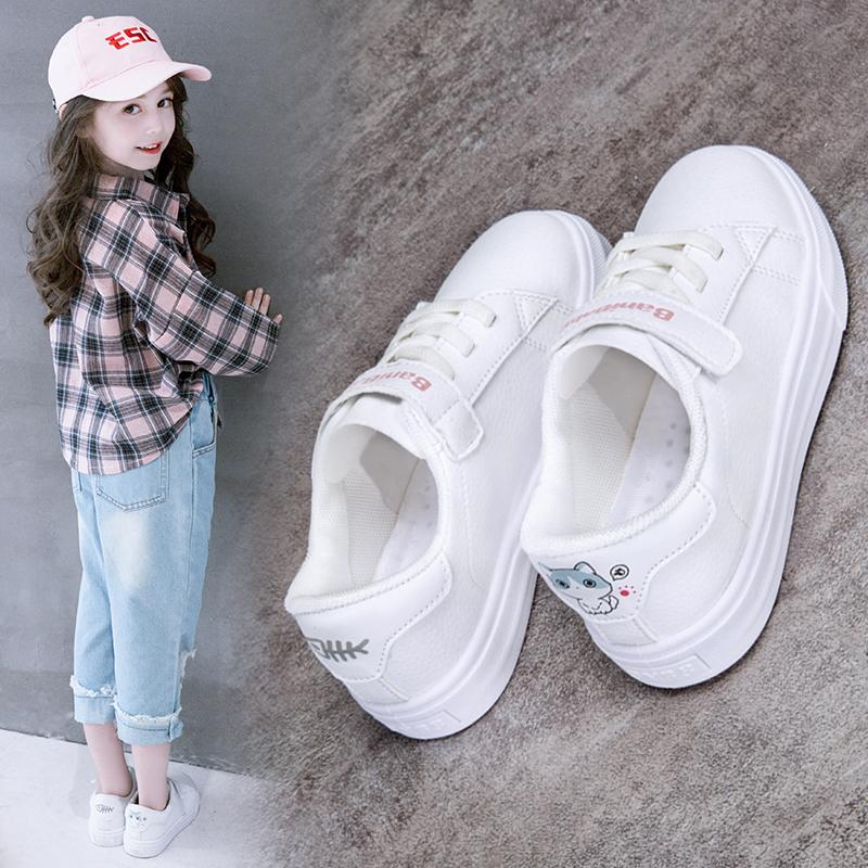 童鞋女童小白鞋2018新款韩版加绒秋冬儿童运动鞋子女孩板鞋百搭潮