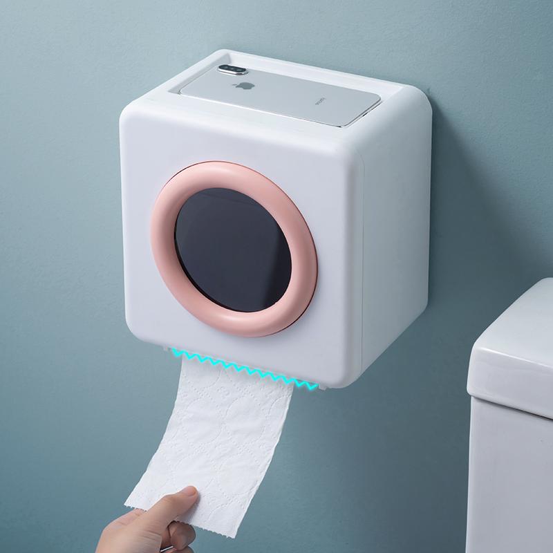 卫生间纸巾盒置物架家用纸巾架厕纸盒免打孔创意防水卷纸筒抽纸盒