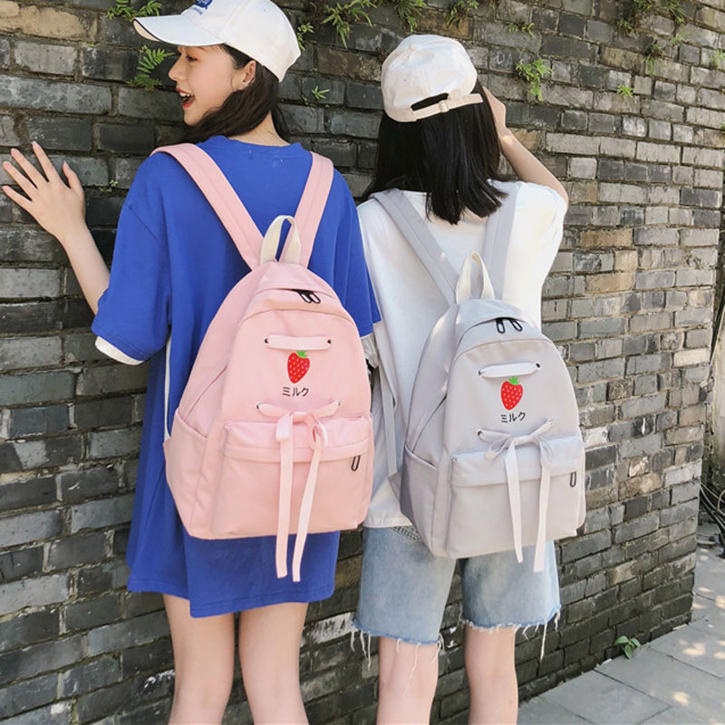 Girl heart bag female Korean version of the high school Japanese cute waterproof backpack Junior High School students ins wind shoulder bag