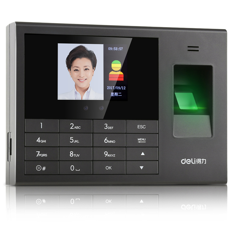 Deli 3765 face recognition attendance machine fingerprint machine finger  sign company company employees work brush face fingerprint face attendance