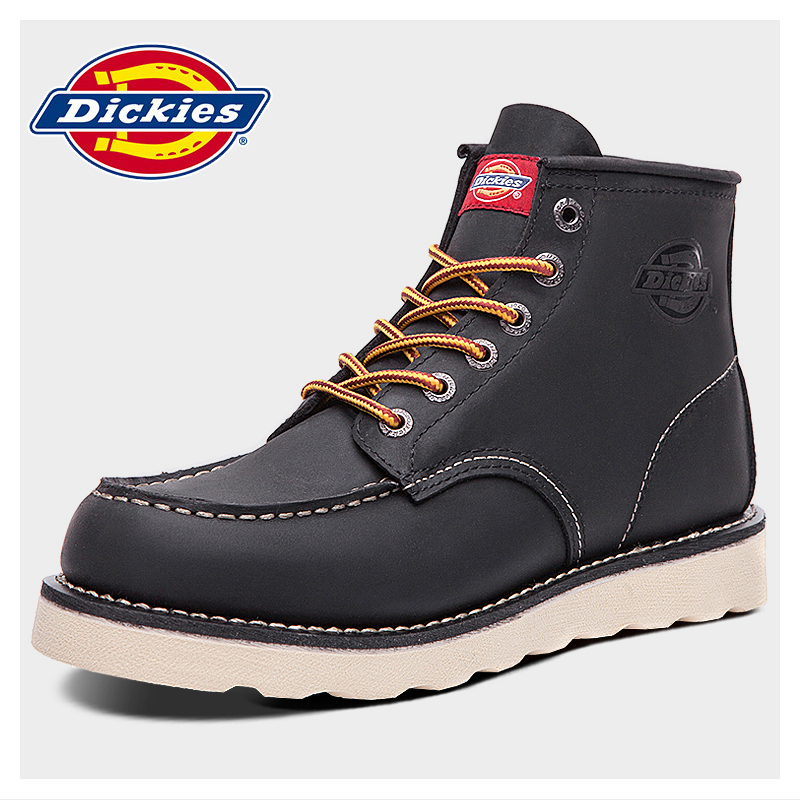 809fb20bc6d Dickies men's shoes spring new tide Europe and the United States Martin  boots men's leather leisure Retro High-Top tooling shoes