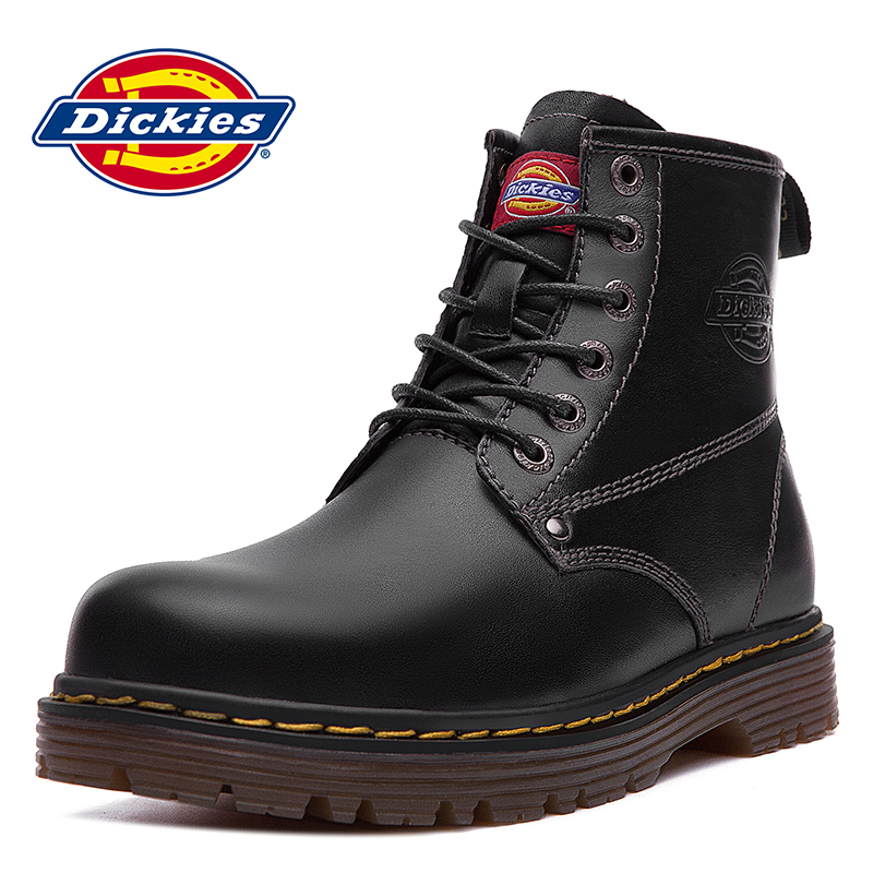 7c0fec25eb1 Dickies men's shoes summer high-top men's boots Korean tooling British  style leather boots Martin boots men's boots