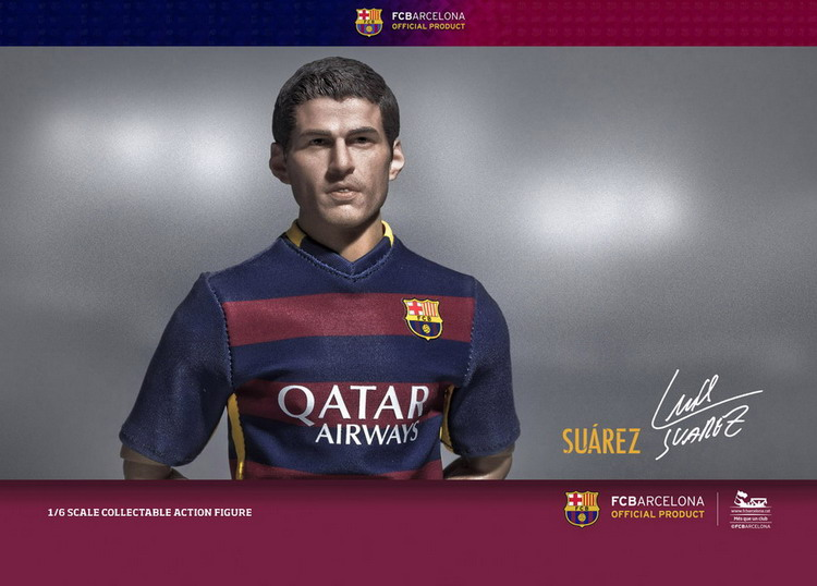 Away Kit Suarez 1//6th Scale ZCWO FCBarcelona 2015//16