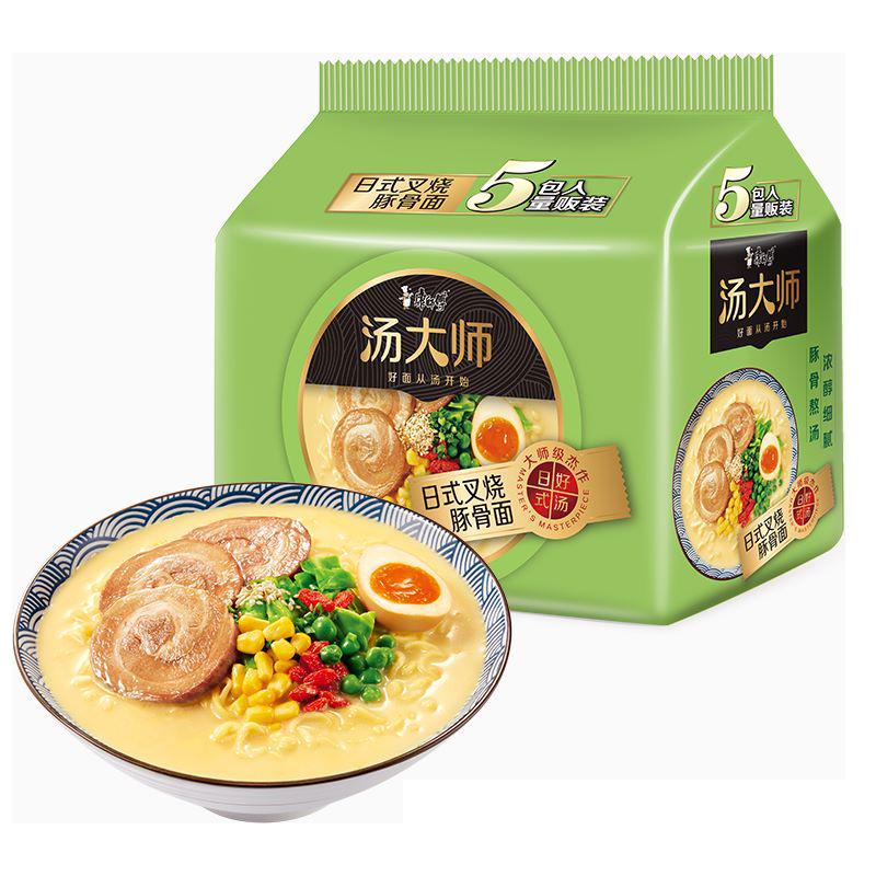 【康师傅】汤大师日式叉烧豚骨面15包
