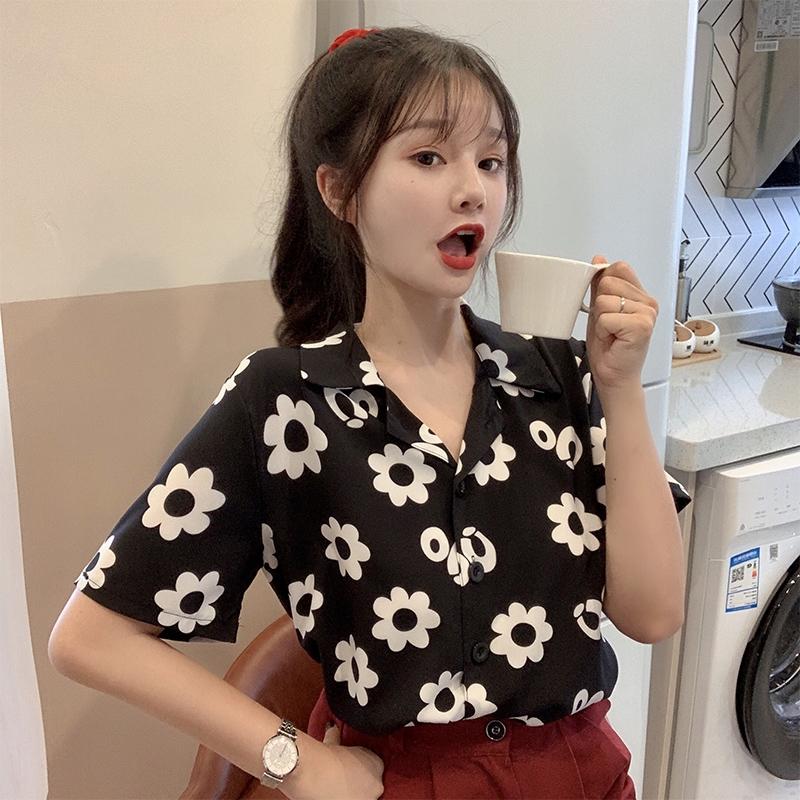 【天猫】奥朵芬泫雅风短袖衬衫