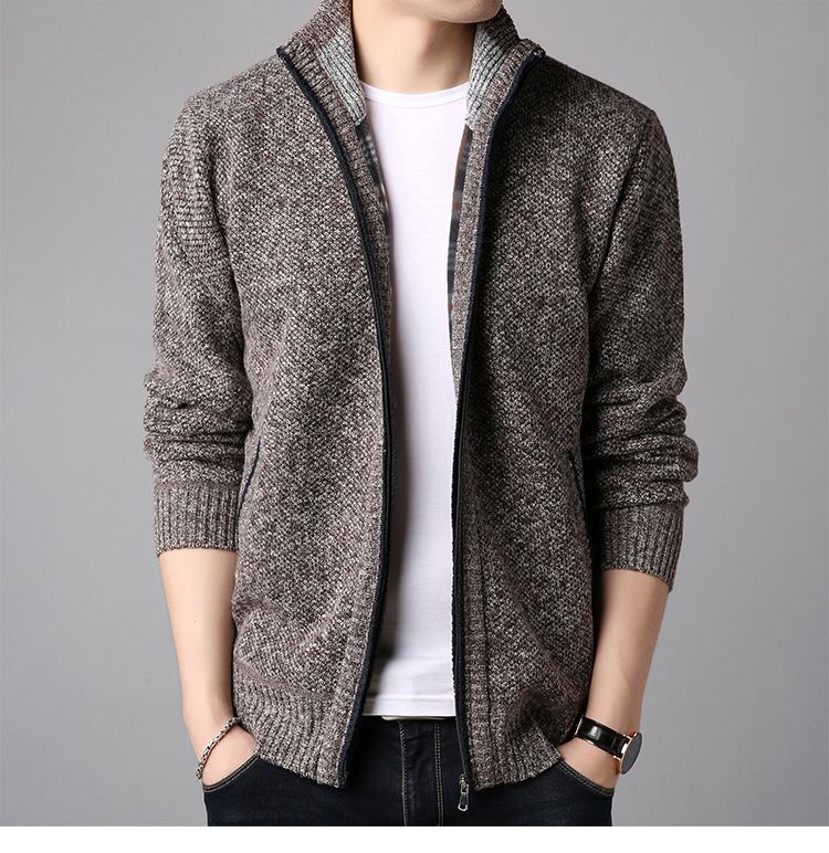 纯羊毛男士针织开衫羊毛衫 图12