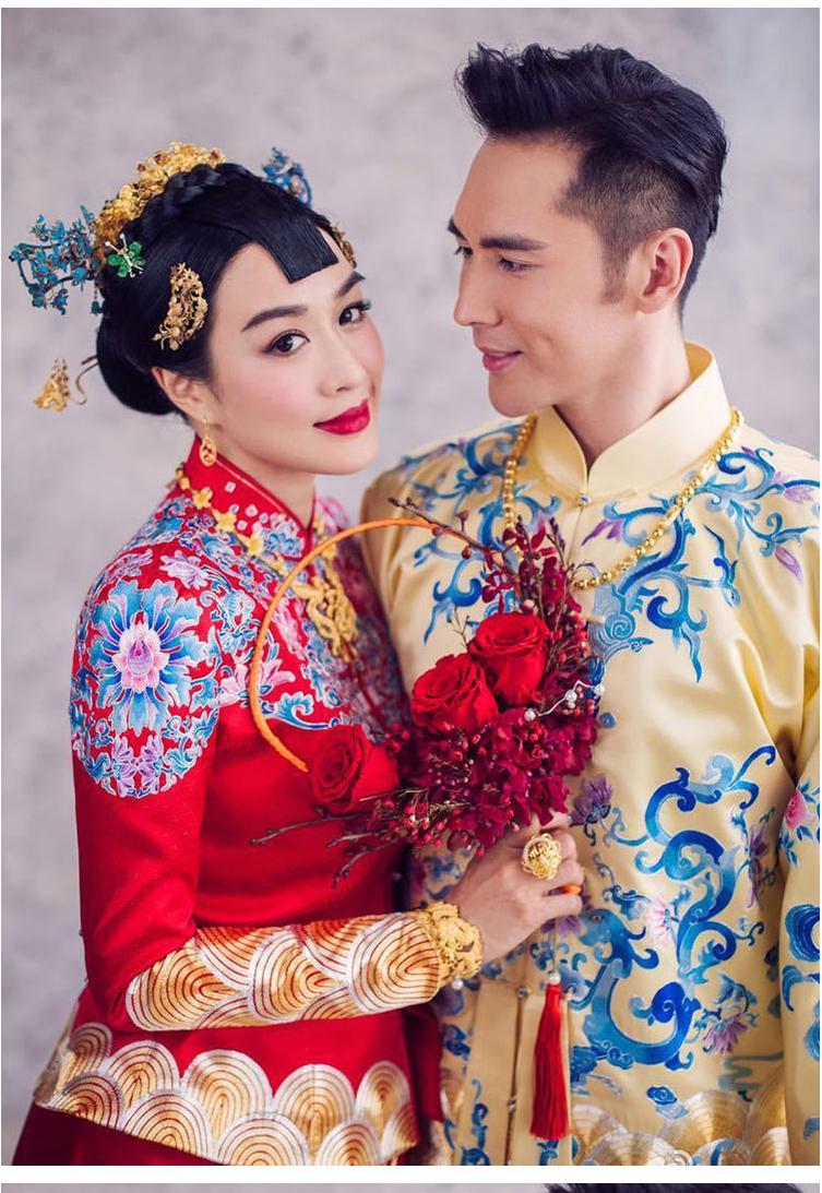 钟丽缇张伦硕大婚的中式礼服 - 花雕美图苑 - 花雕美图苑