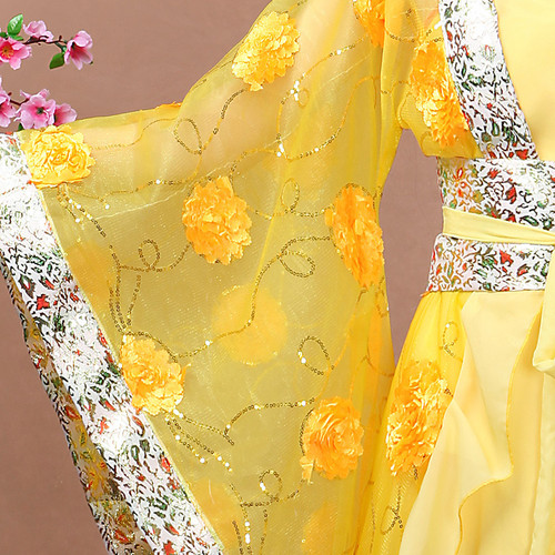 Chinese Folk Dance Dress Ancient costume, imperial concubine dress, female Tailed Han suit