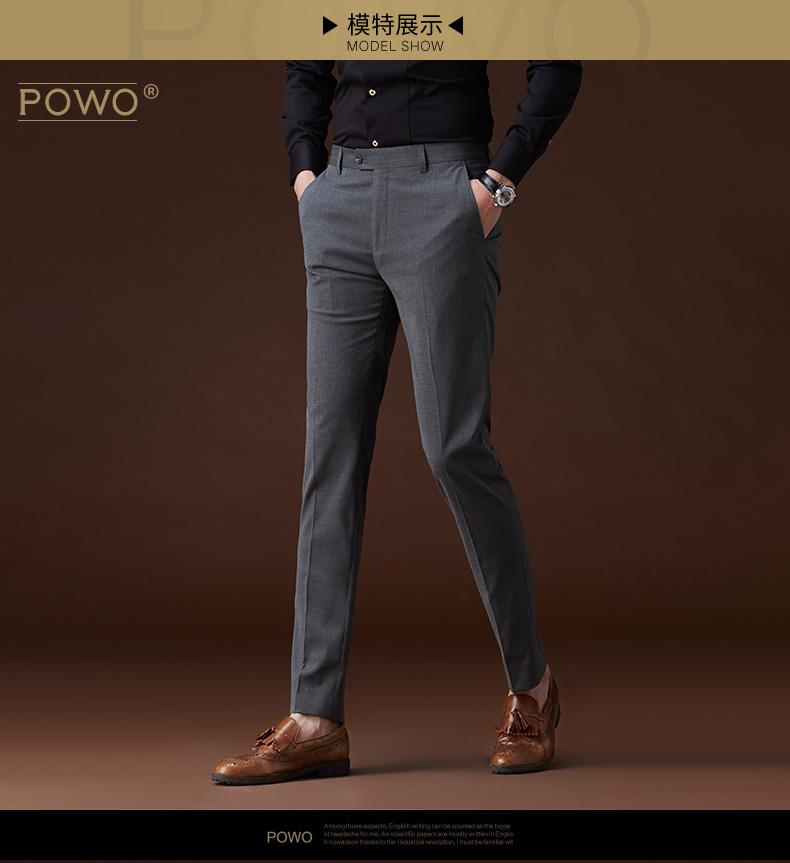 Quần nam mỏng màu xám phù hợp với quần kinh doanh thẳng phù hợp với ăn mặc của nam giới làm việc mùa hè phần mỏng Hàn Quốc phù hợp với quần