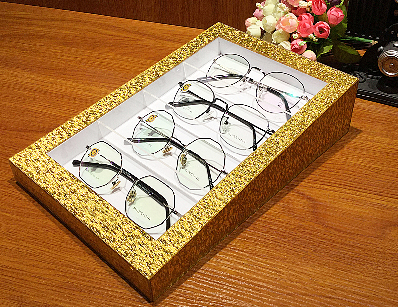 828463d1c8 Nine degrees creative yp001 flash gold acrylic multi-store glasses storage display  props display box. Zoom · lightbox moreview · lightbox moreview ...