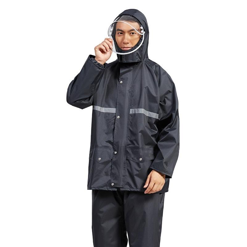 迈雨雨衣雨裤套装分体式全身防水摩托电动车男女外卖骑行加厚雨披
