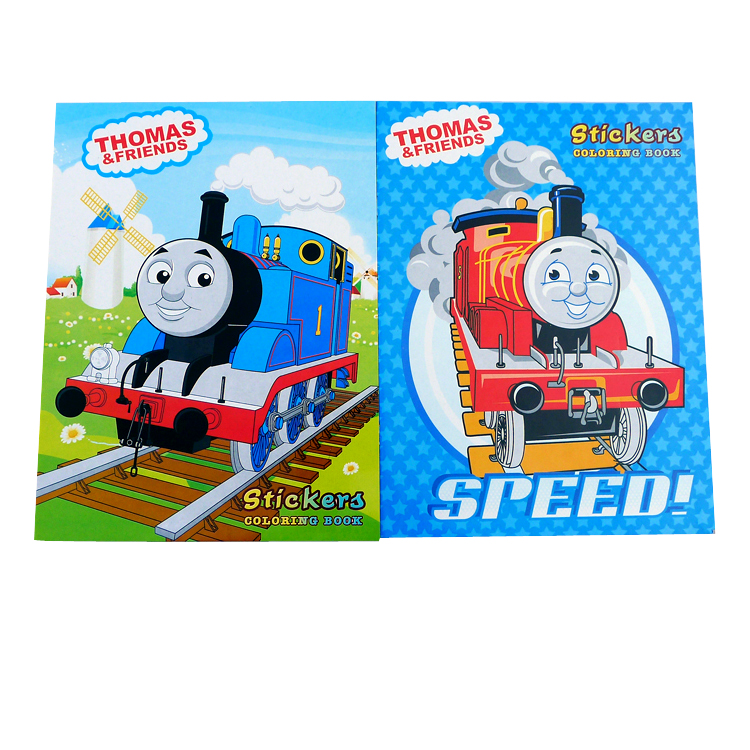 Cars Thomas Thomas Thomas White Coloring Book 16 Pages Stickers Graffiti Fill This Picture Album